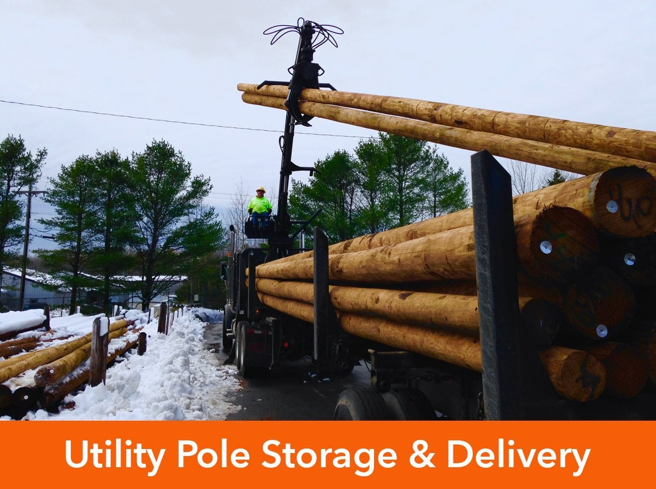 Utility pole storage and delivery – P&CG – Power & Construction